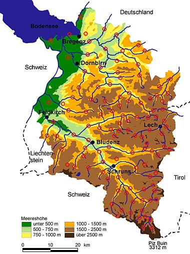 Vorarlberg Karte Berge.Natur Und Landschaft In Vorarlberg